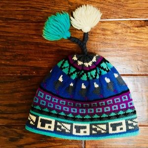 Accessories - Colorful winter hat with tassels